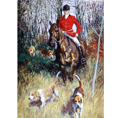 The Huntsman (Fox Hunting) Blank Greeting Cards - 6 Pack