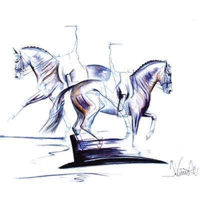 Nizza (Dressage) By: Jan Kunster, Matted