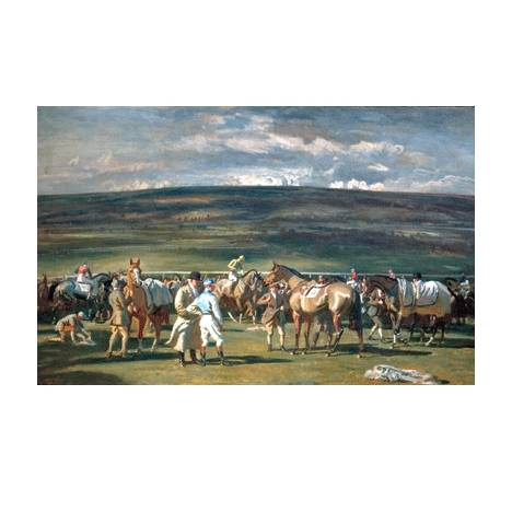 In the Saddling Paddock By: Alfred Munnings
