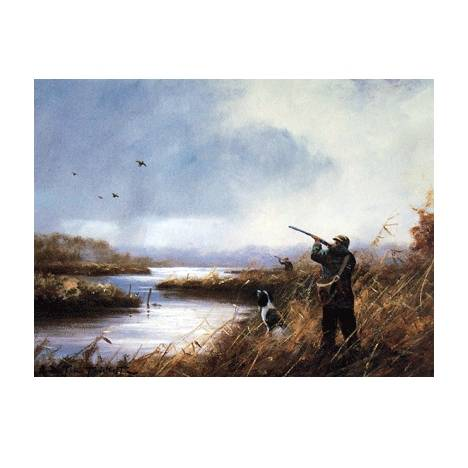 Duck Shooting (English Springer) Blank Greeting Cards - 6 Pack