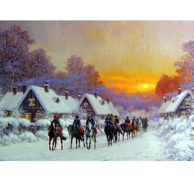 Morning Glow Christmas Cards - 10 Pack
