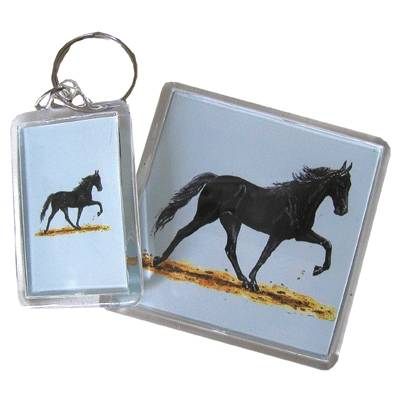 Acrylic Key Ring - Walking Horse