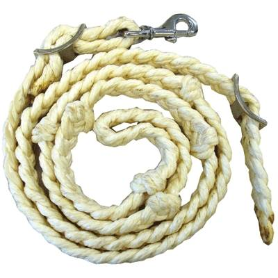 Barrel Racing Rein Thick Cotton Hand Braided with Knots