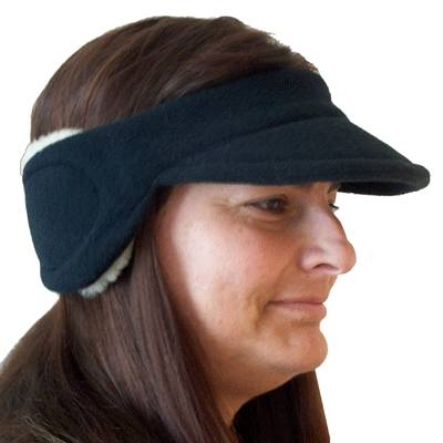 Cozy Ear Muffs with Peak Soft felt with fleece ear protection with added peak