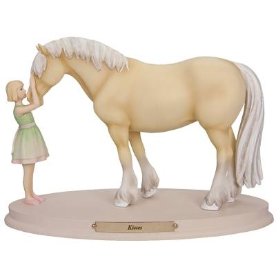 Horse Whispers Kisses Figurine