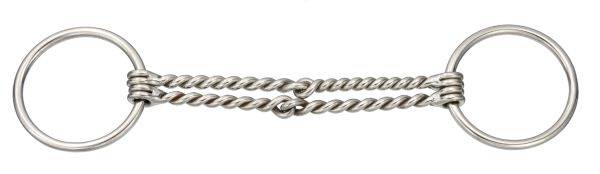 Kelly Silver Star Double Twisted Wire Snaffle