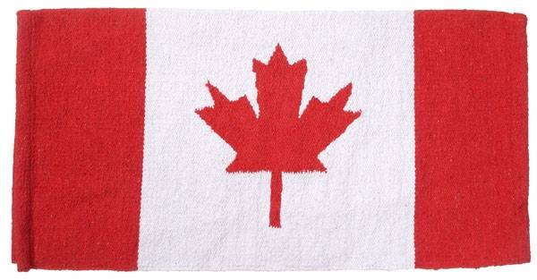 Tough-1 Acrylic Canadian Flag Saddle Blanket