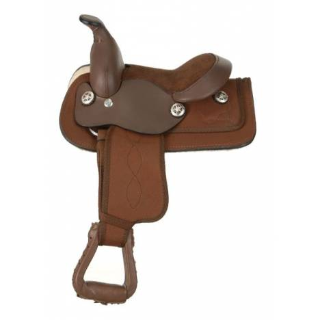 King Series Miniature Synthetic Western Saddle