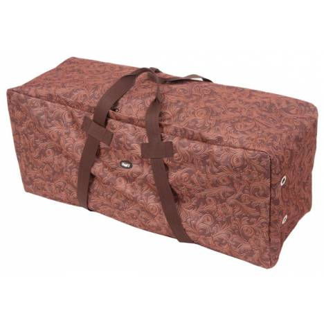 Tough-1 Heavy Denier Hay Bale Protector/Carrier - Tooled Leather Print