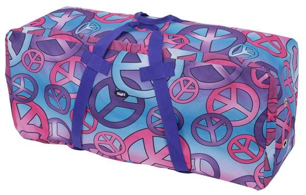 Tough-1 Heavy Denier Hay Bale Protector/Carrier - Candy Peace Print
