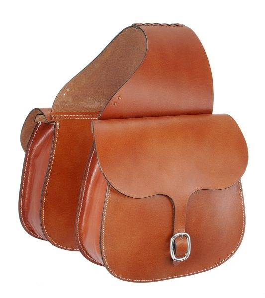 Tough-1 Leather Saddle Bag