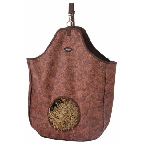 Tough-1 Nylon Hay Tote - Tooled Leather Print