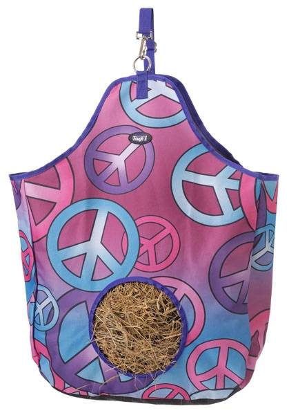 Tough-1 Nylon Hay Tote - Candy Peace Print