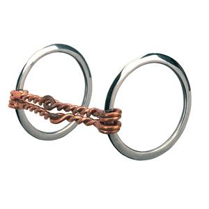 Offset Double Twisted Copper Wire Mouth All Purpose Ring Snaffle Bit