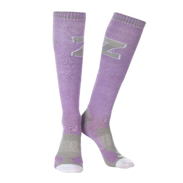OPEN BOX - Horze Jayne Sporty Knee Socks - 6 - 7.5 - Ash Grey/Dark Slate Grey