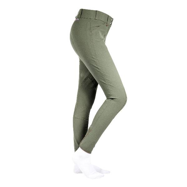 HorZe Ladies Grand Prix Faux Leather Knee Patch Breeches