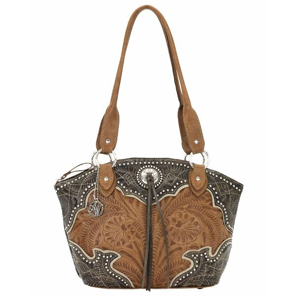 AMERICAN WEST Heart of Gold Zip-Top Bucket Tote