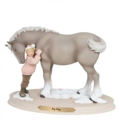 Horse Whispers Big Hug Figurine