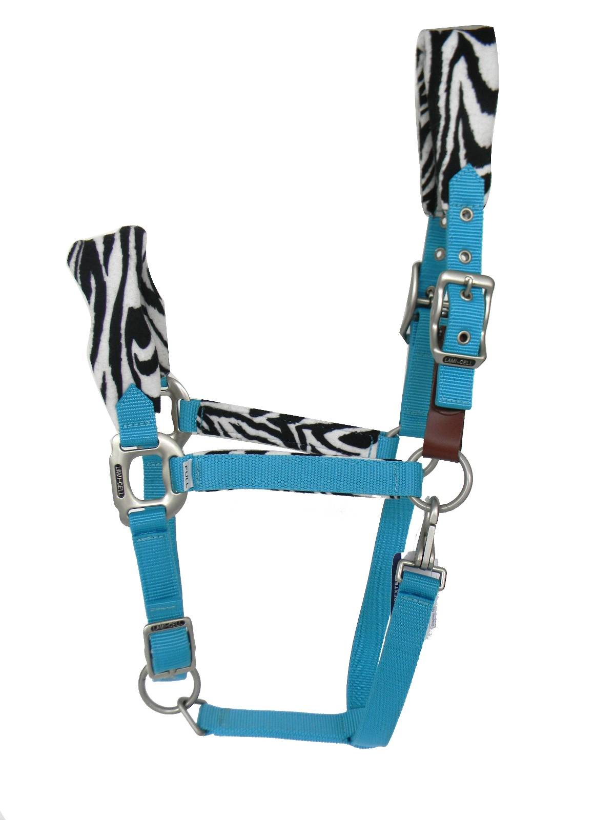 Lami-Cell Zebra Fleece Padded Halter