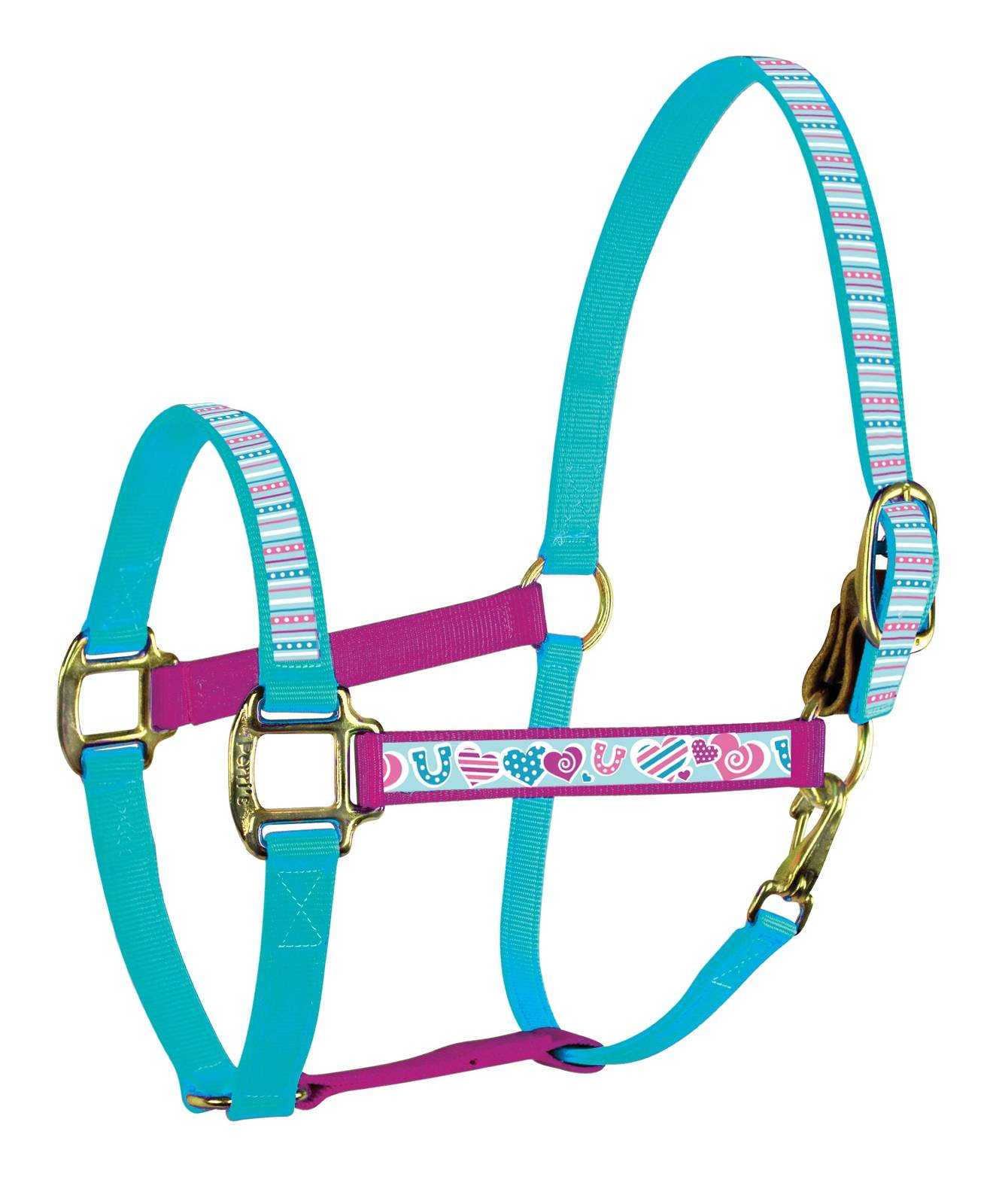 Perri's ''Color Duo'' Ribbon Nylon Halter