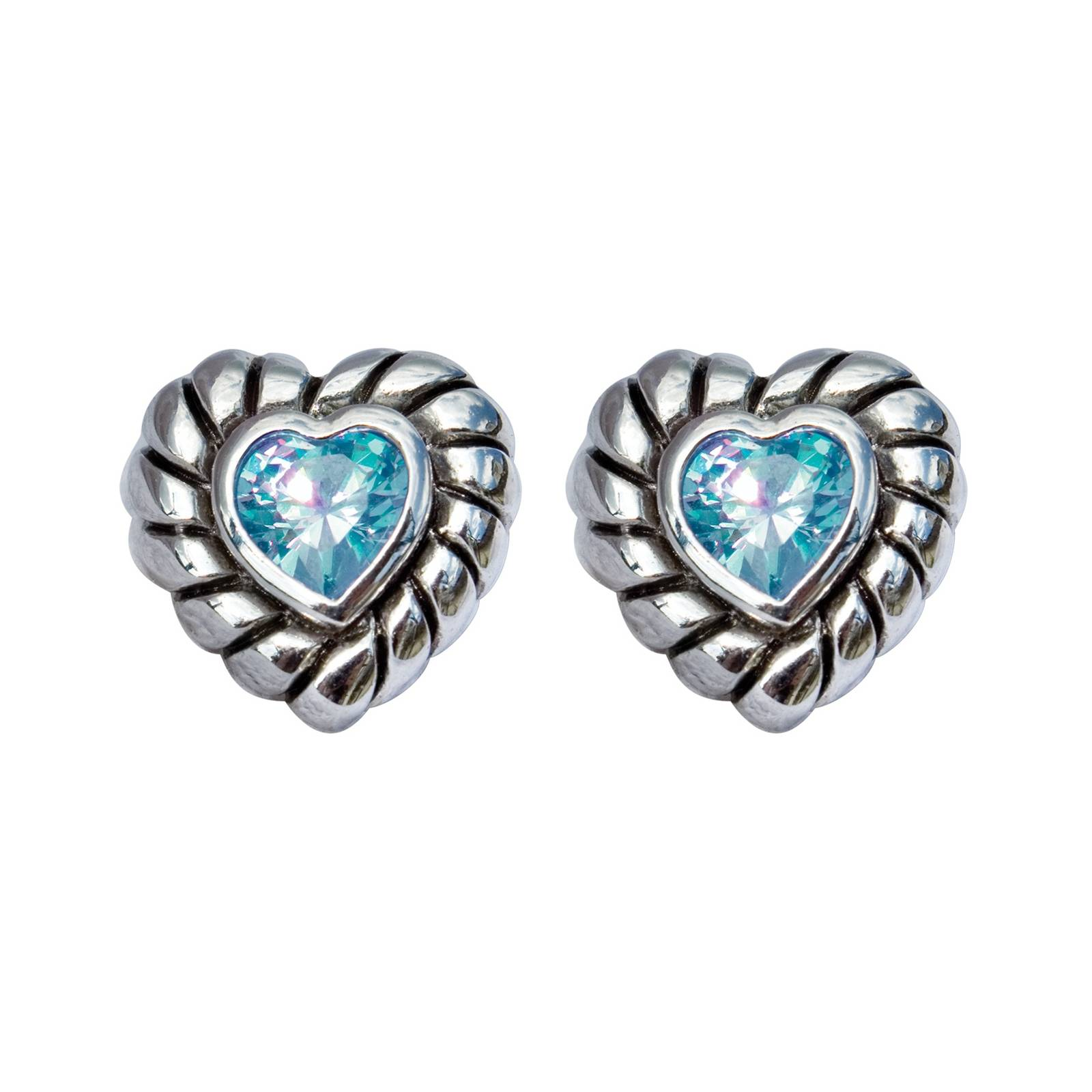 Perri's Crystal Heart Post Earring