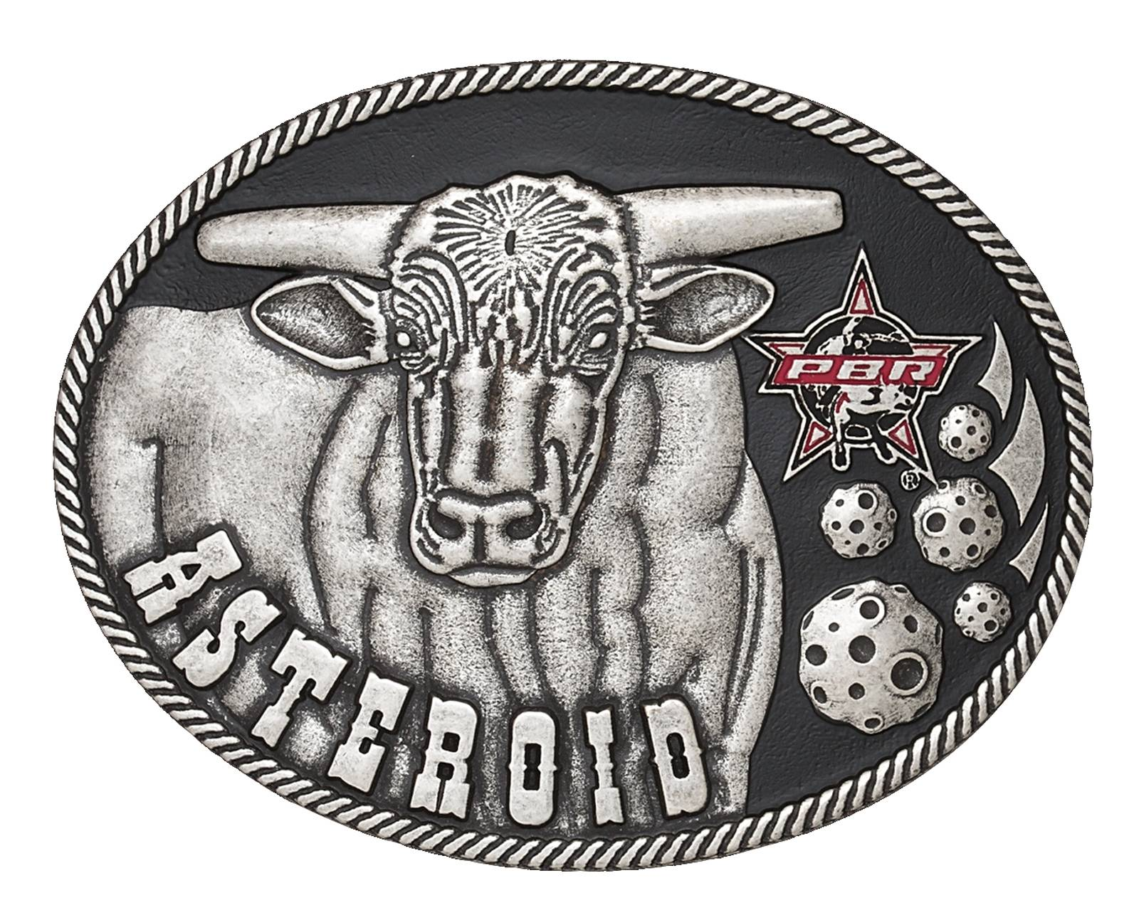 Montana Silversmiths Asteroid Antiqued Cast PBR Buckle
