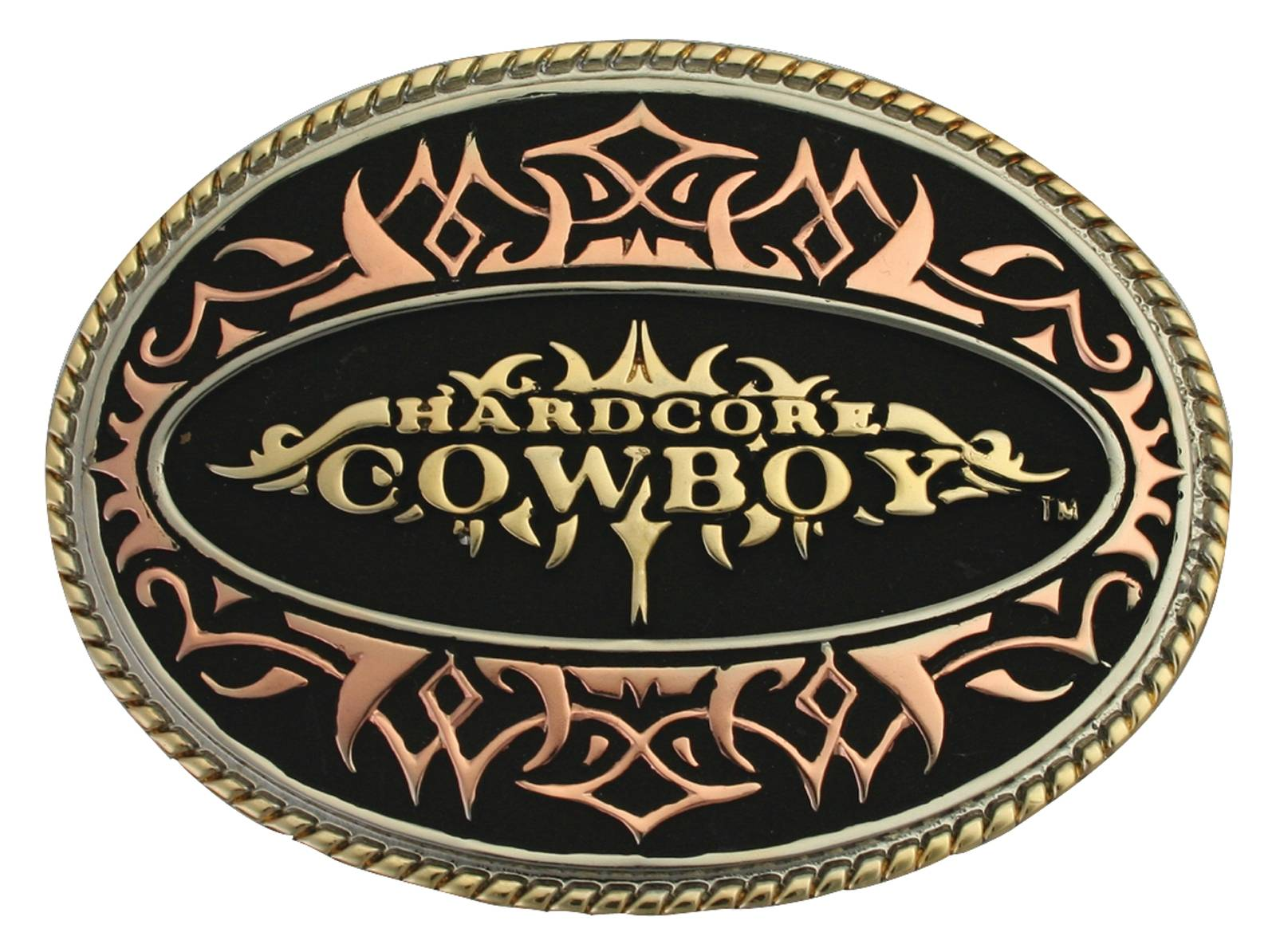 Montana Silversmiths Hardcore Cowboy Tri-Color Attitude Belt Buckle