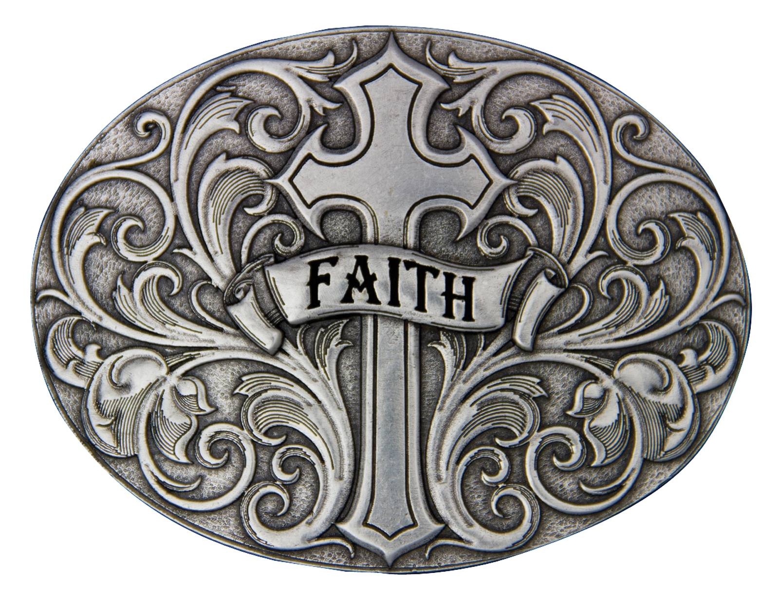 Montana Silversmiths A Banner of Faith Attitude Buckle