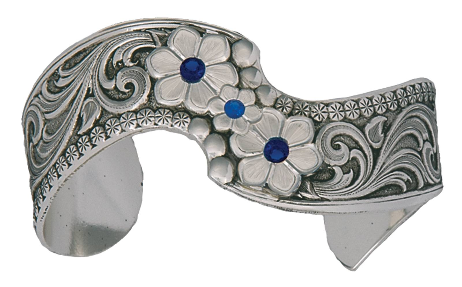Montana Silversmiths True Blue Wildflower Spray Cuff Bracelet