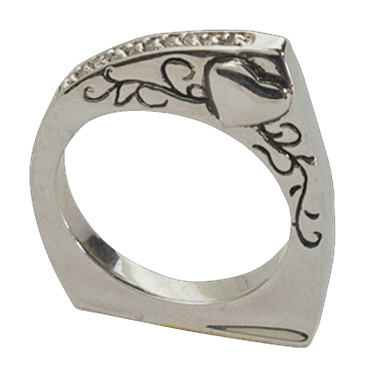 Montana Silversmiths Follow Your Heart Silver Band Ring