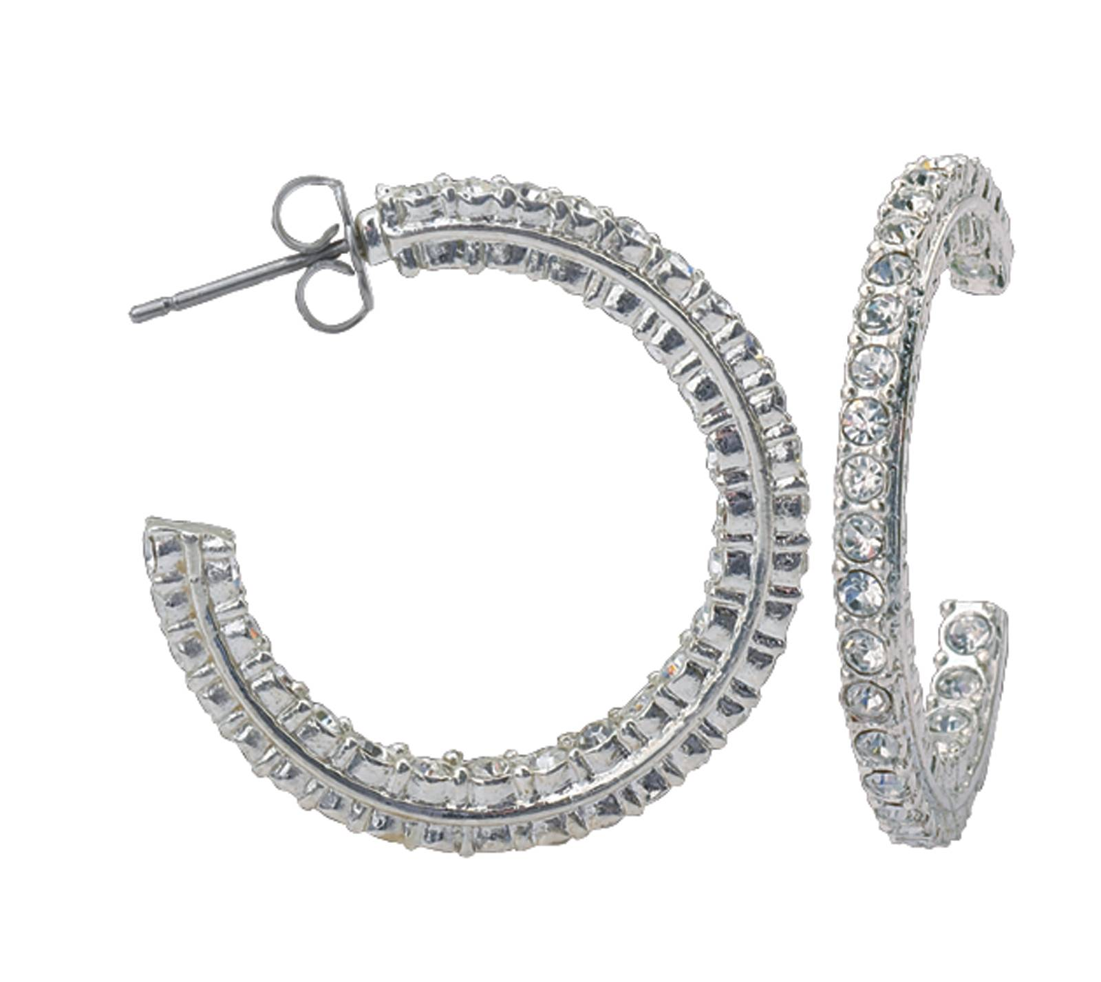 Montana Silversmiths Crystal Inside Out Hoop Earrings