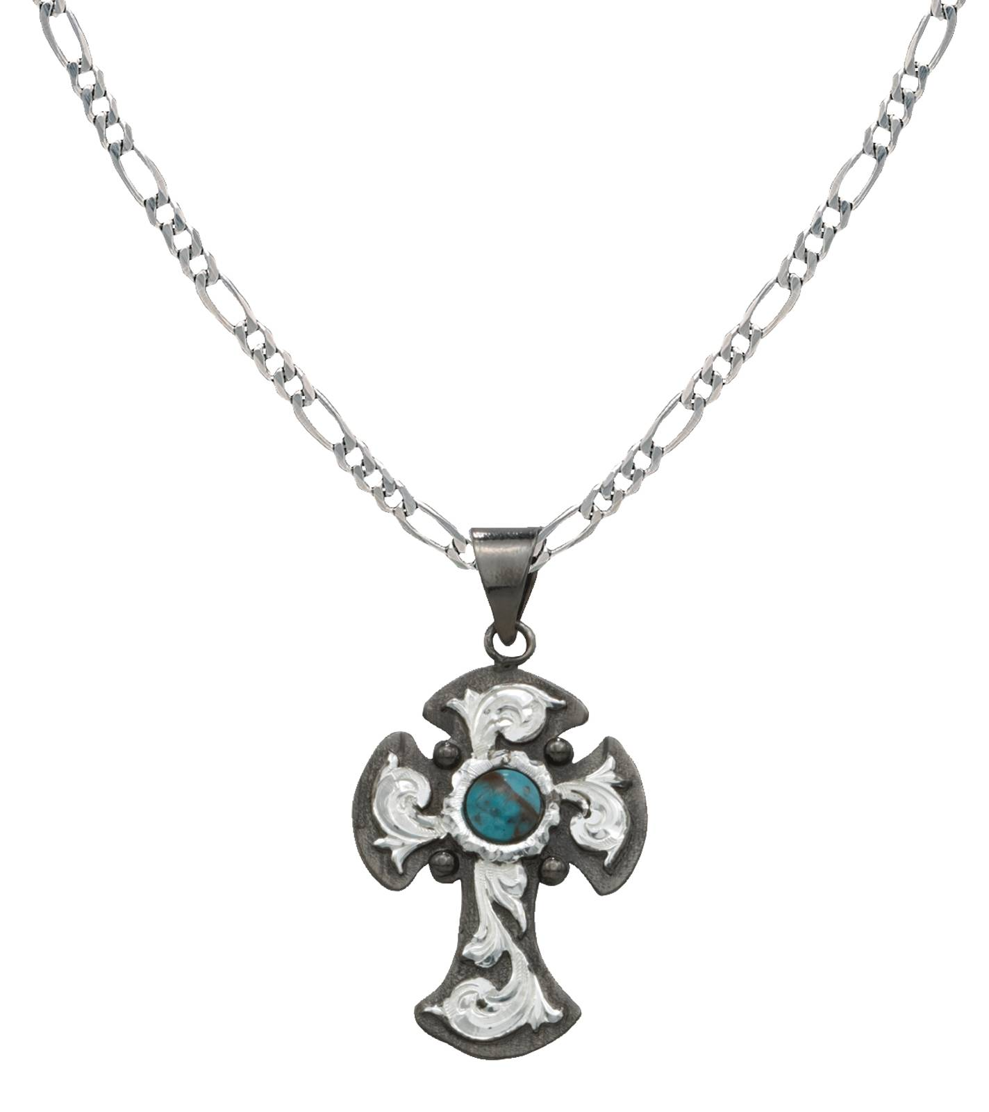 Montana Silversmiths Blue Earth Antiqued Filigree Cross Erminee