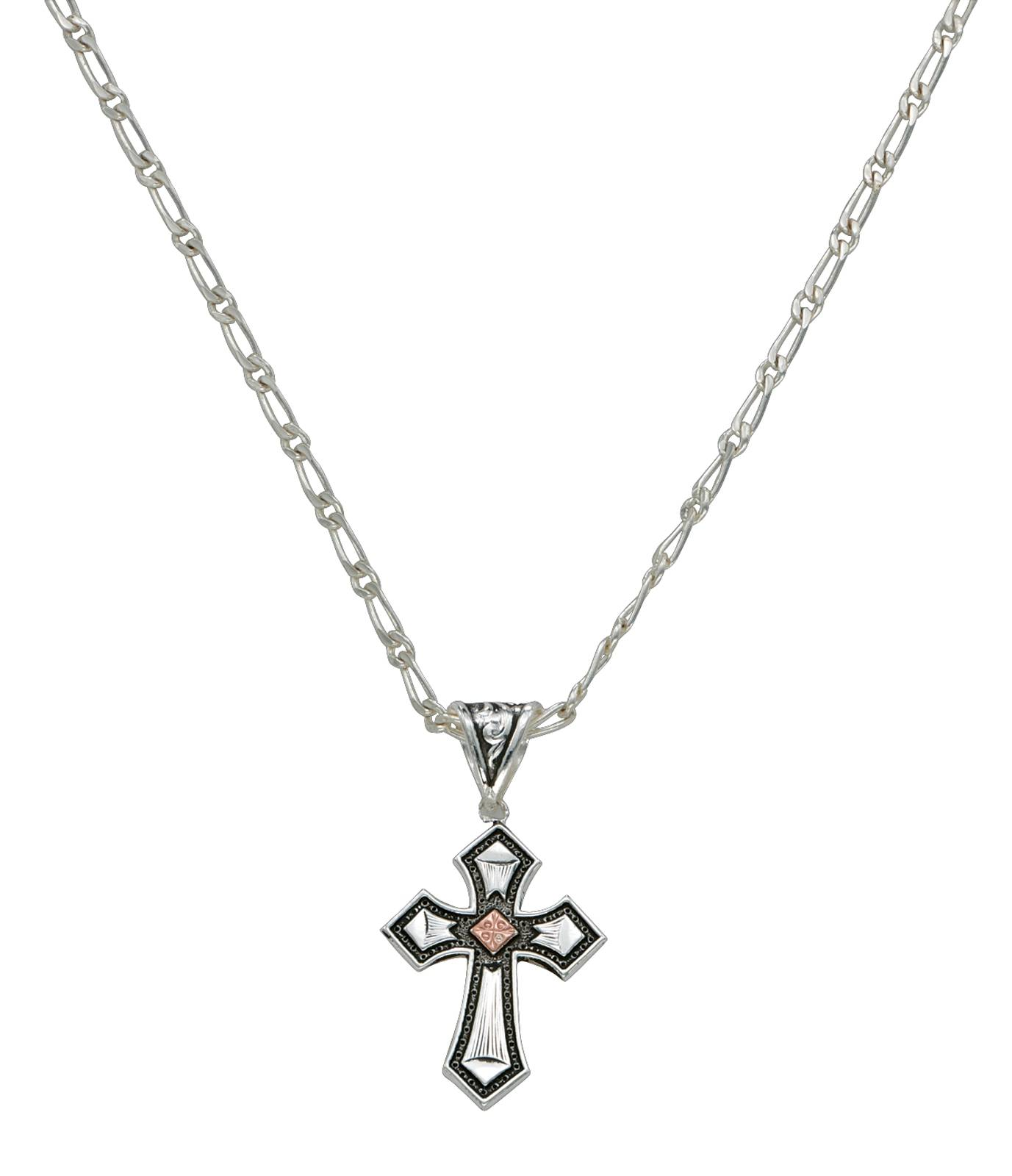 Montana Silversmiths Antique Copper Diamond Cross