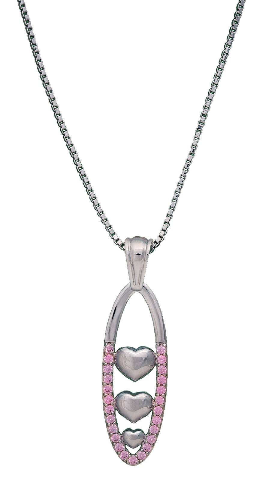 Montana Silversmiths Young Love Silver Hearts Pendant Necklace