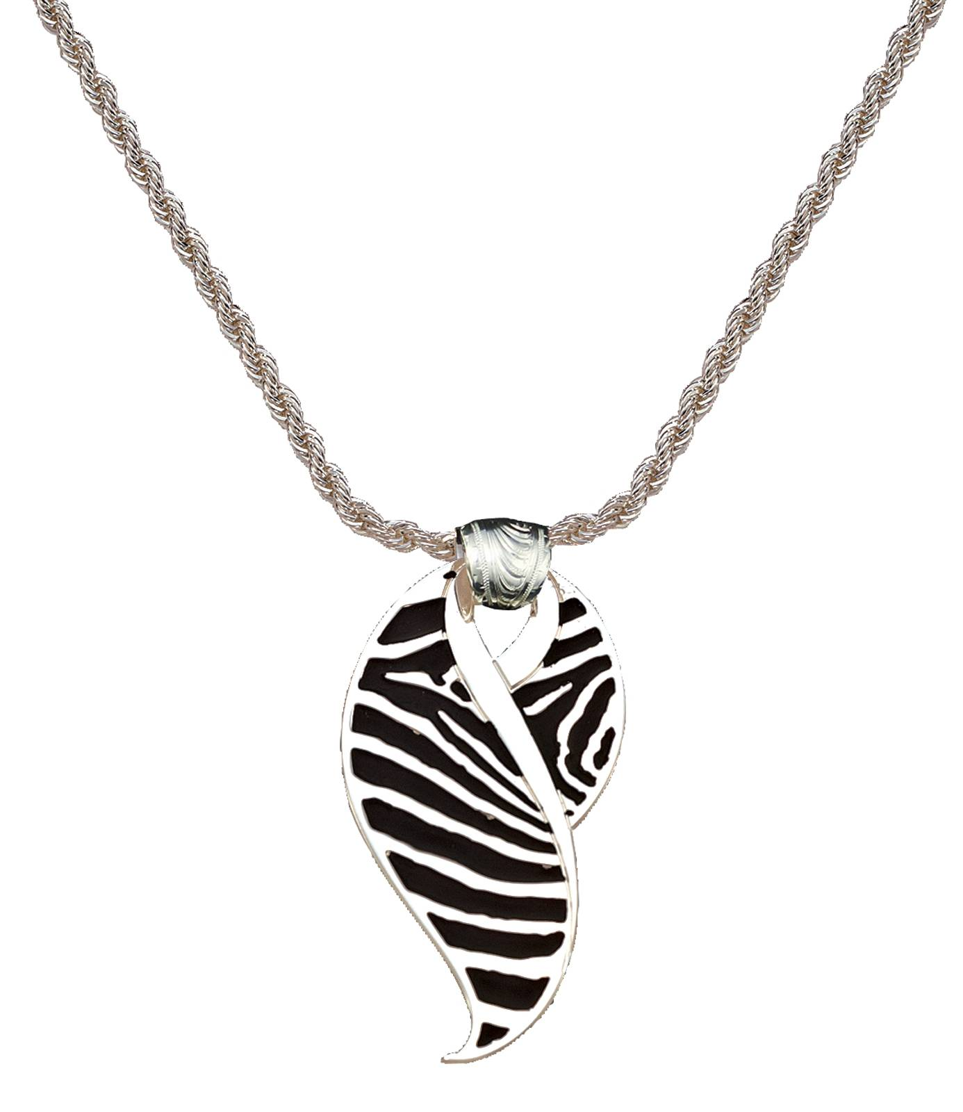 Montana Silversmiths Safari Collection: Zebra Wisp Silver Pendant Necklace