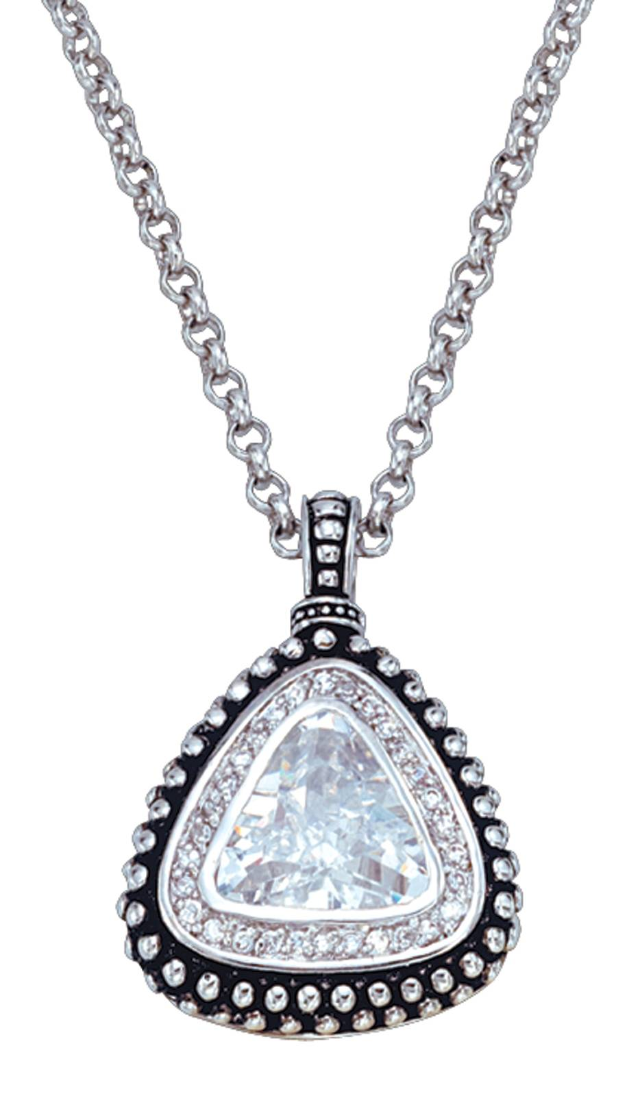 Montana Silversmiths Western Drop Triangle Pendant Necklace
