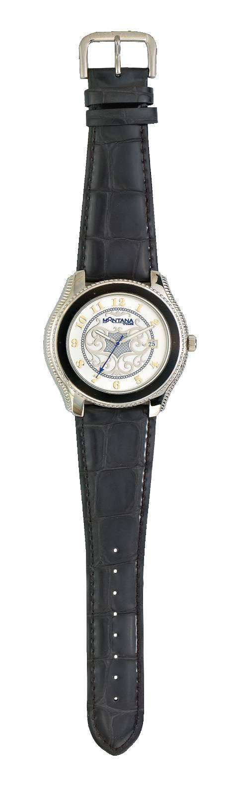 Montana Silversmiths Classic Western Filigree Watch with Crocodile Leather Band