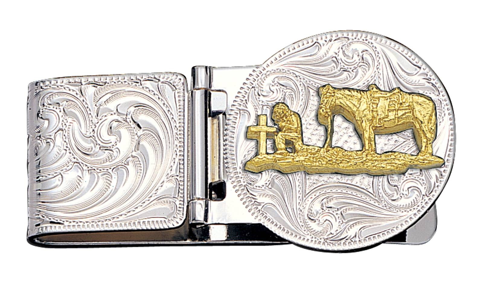 Montana Silversmiths Christian Cowboy Hinged Money Clip