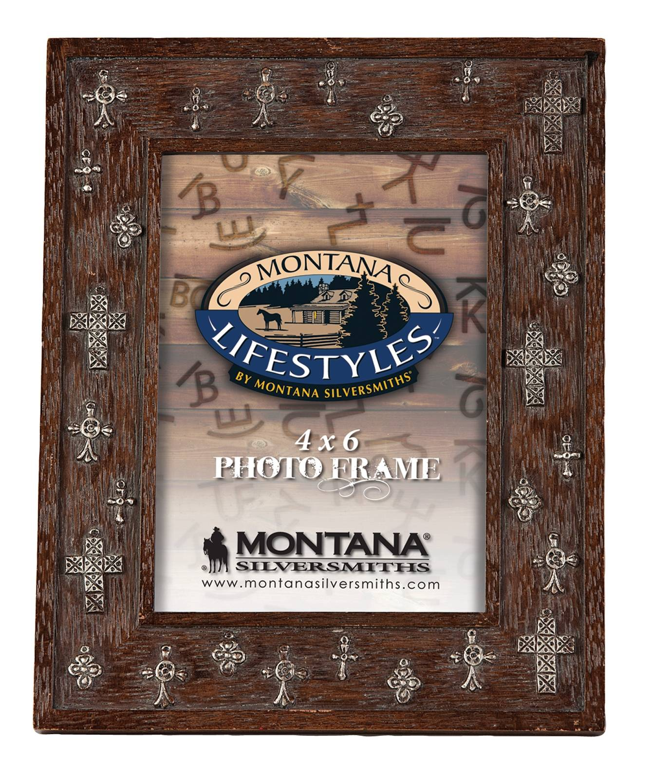 Montana Silversmiths Antiqued Crosses Photo Frame