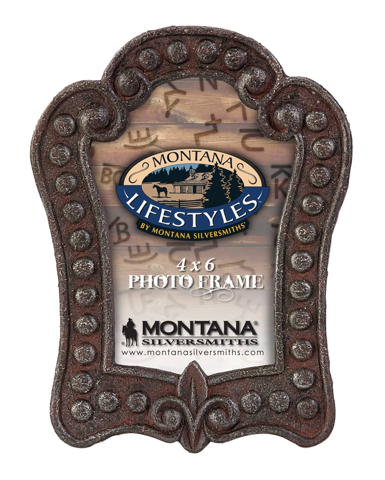Montana Silversmiths Rustic Metal Studded Photo Frame