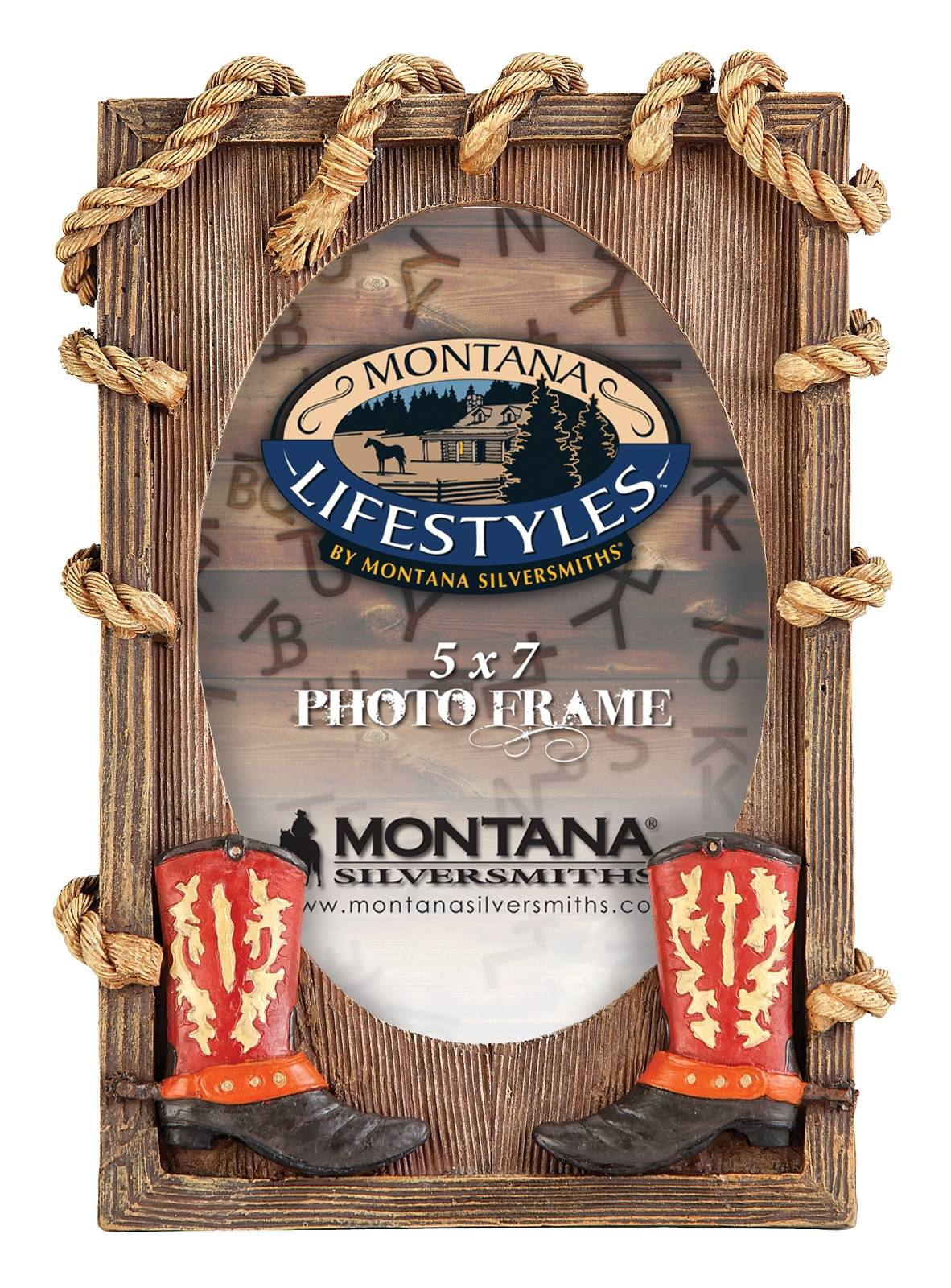 Montana Silversmiths Rope n' Boots Photo Frame