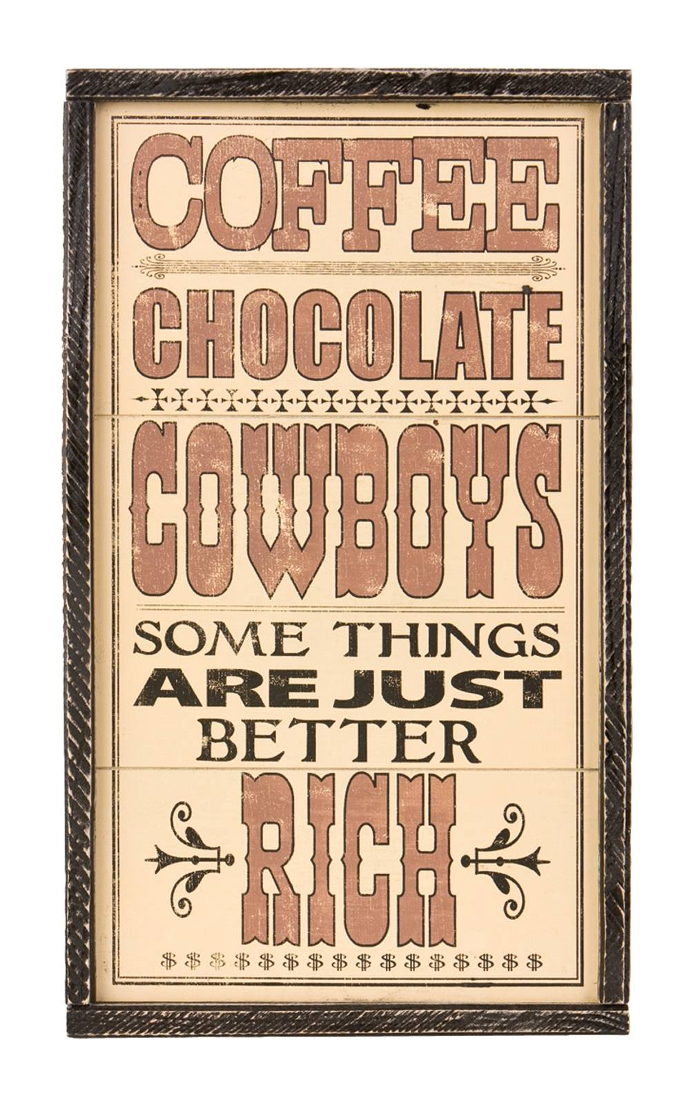 Montana Silversmiths Coffee, Chocolate, Cowboys Sign