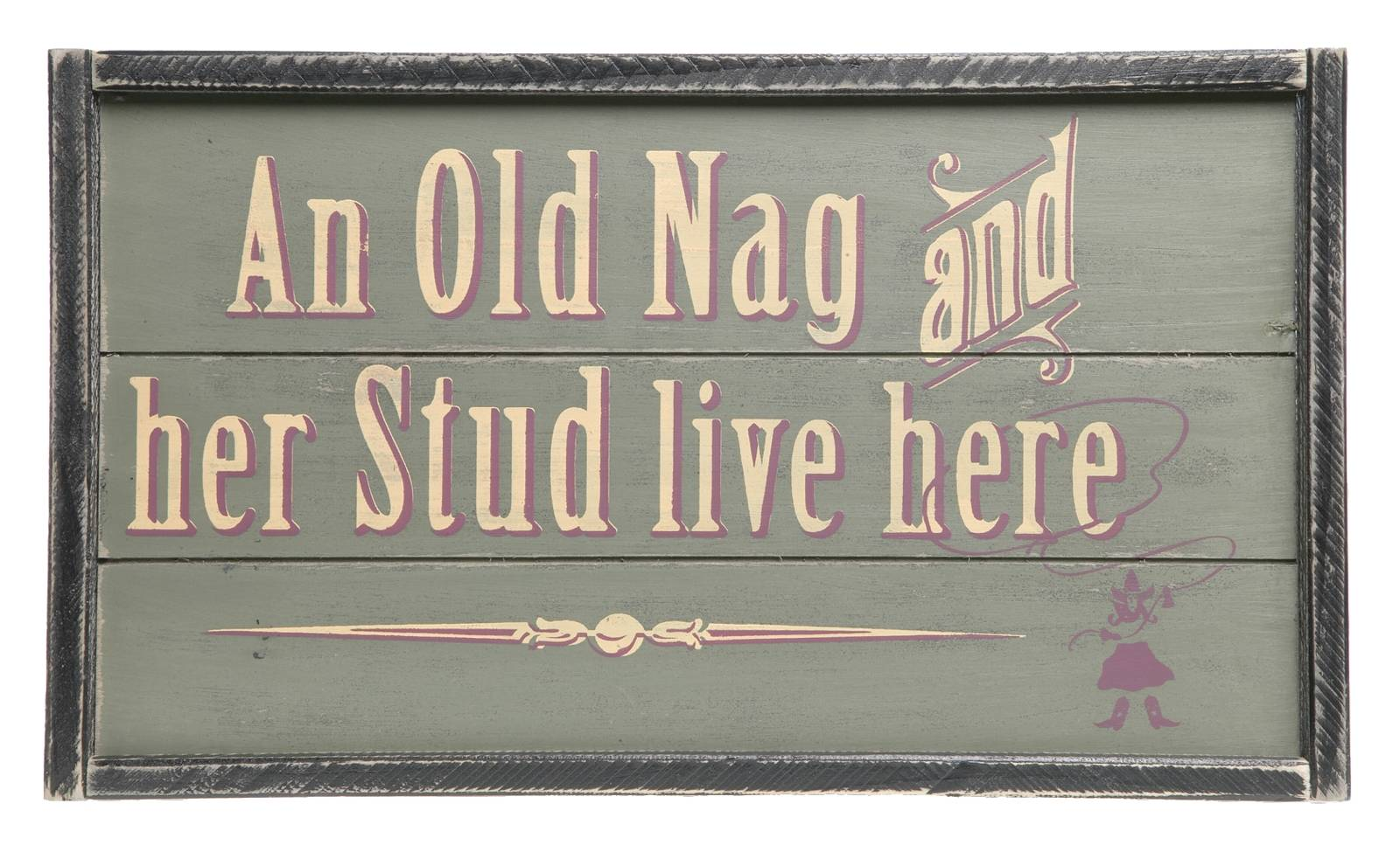 Montana Silversmiths An Old Nag & Her Stud Sign