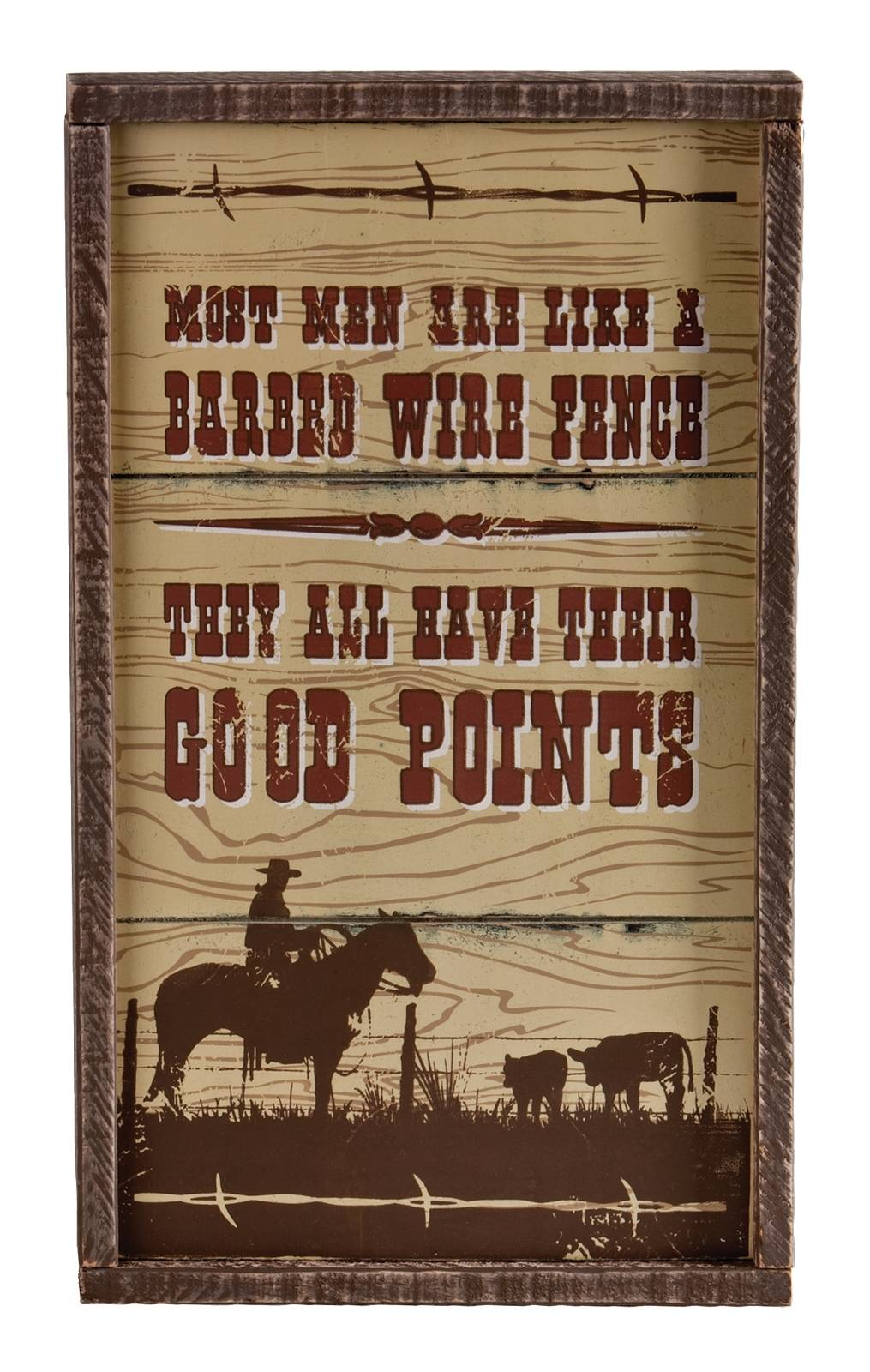 Montana Silversmiths Most Men Are Like Sign