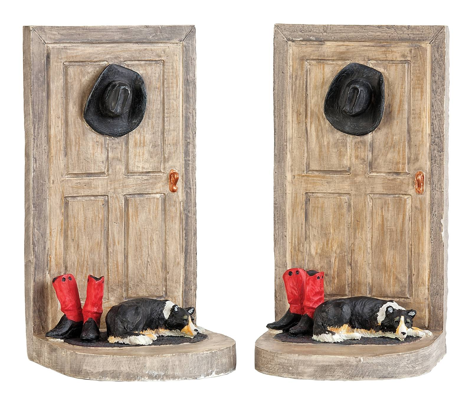 Montana Silversmiths Collie n' Boots Book Ends