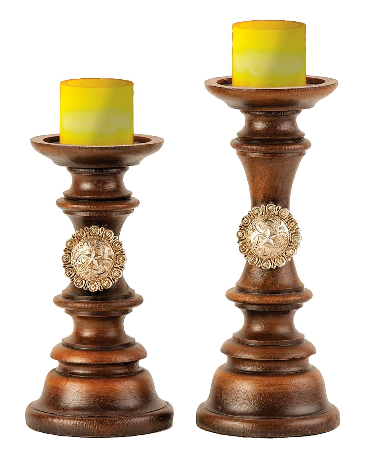 Montana Silversmiths Concho Pillar Candle Holders