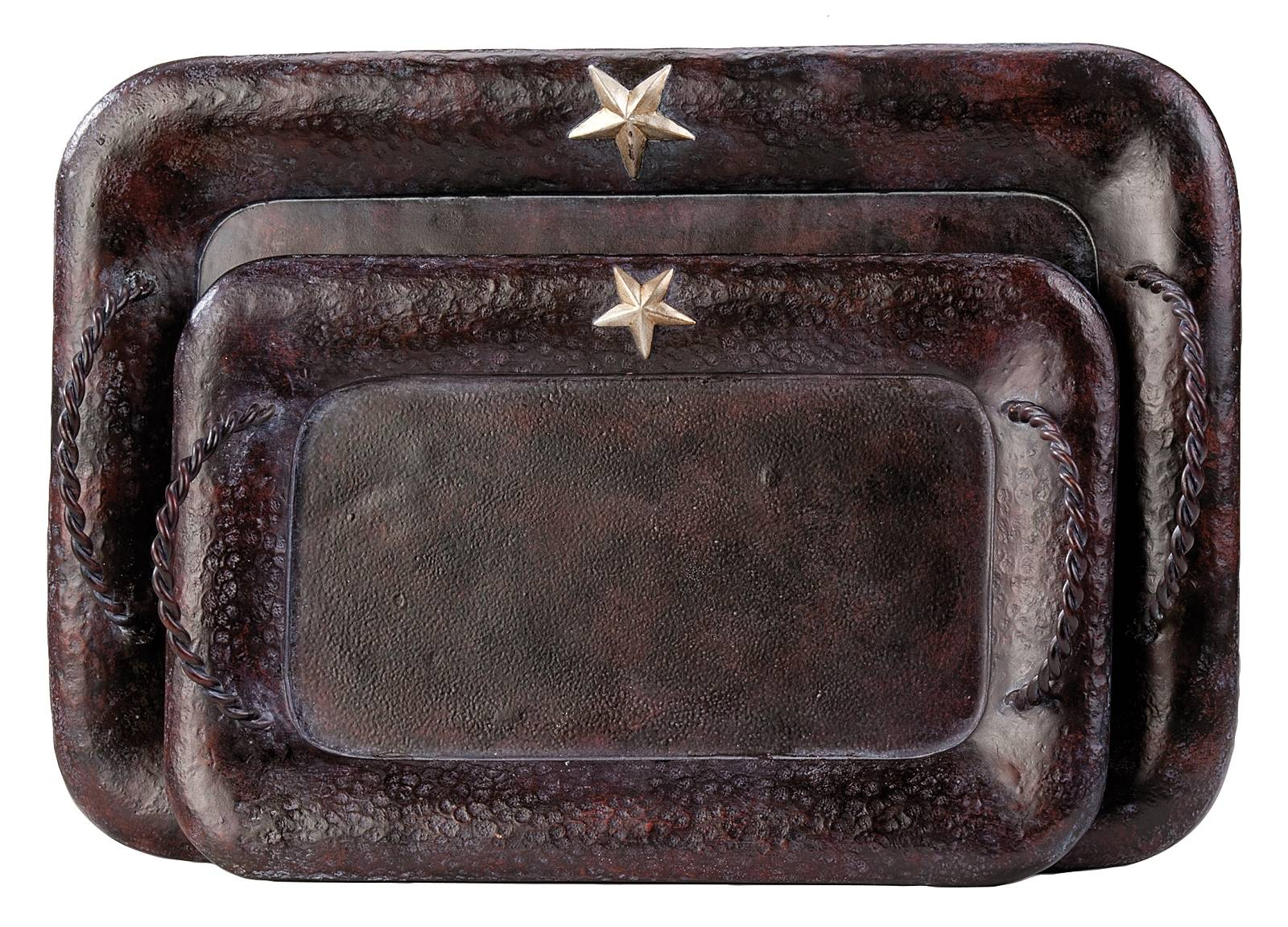 Montana Silversmiths Rustic Star Trays Set of Two