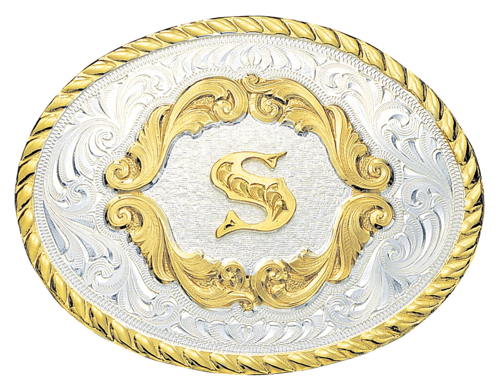 Montana Silversmiths Initial D Gold Filigree Western Belt Buckle