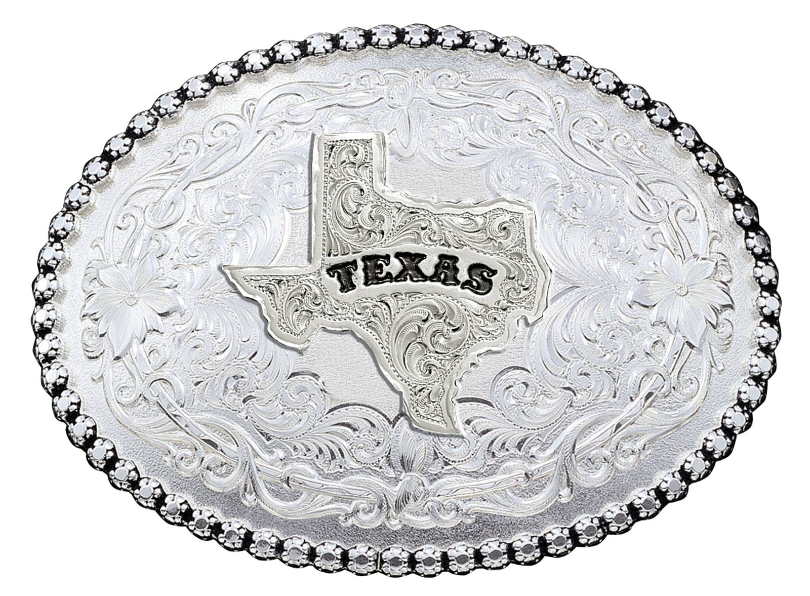 Montana Silversmiths Antiqued Silver Texas State Western Belt Buckle