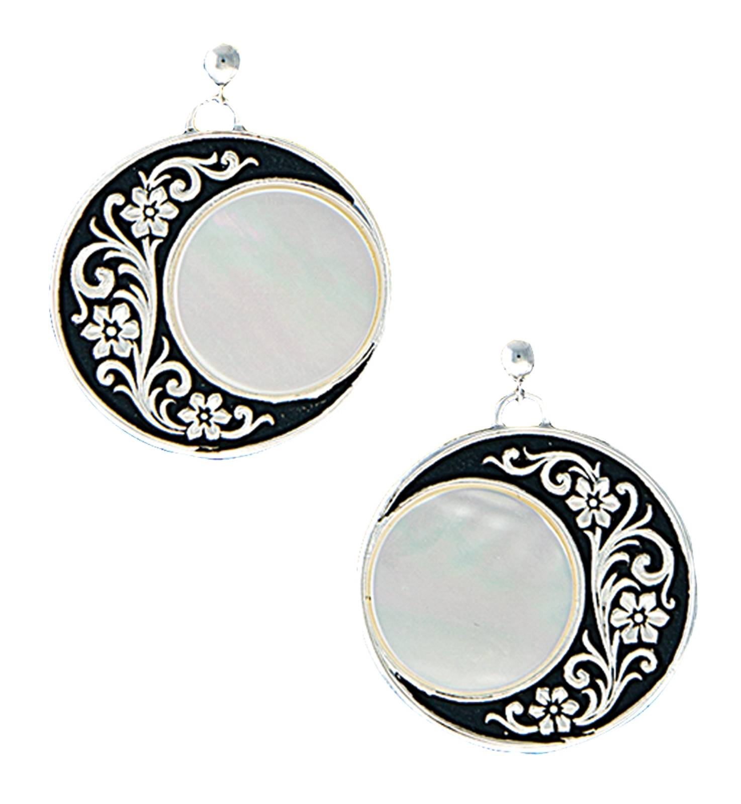 Montana Silversmiths Silver Blooms UnderofRising Moon Earrings